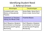 identifying student need 2 referral driven