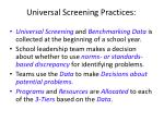 universal screening practices