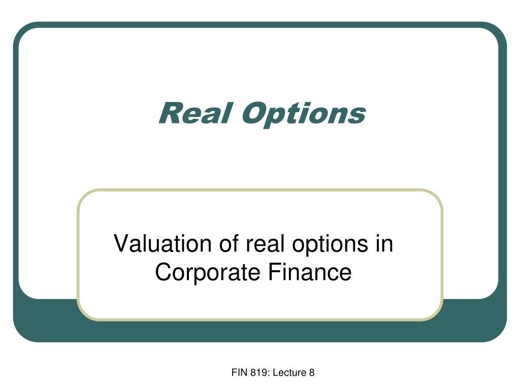 real options l.