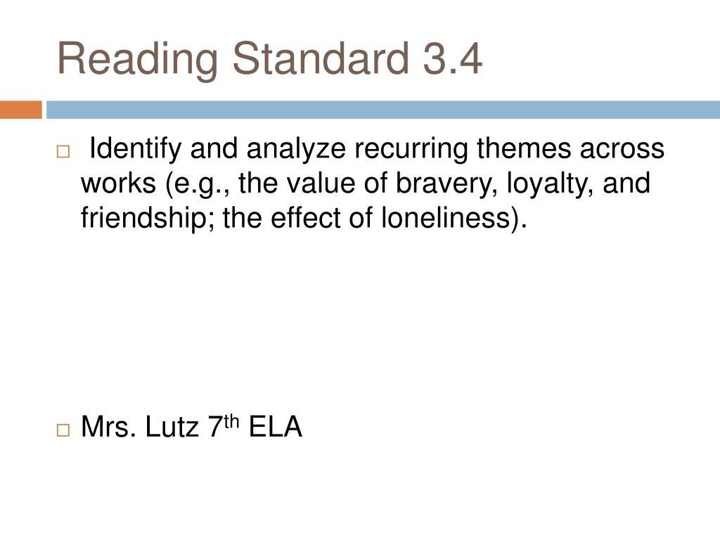 reading standard 3 4 l.