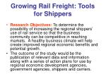 growing rail freight tools for shippers