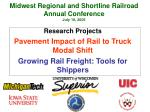 midwest regional and shortline railroad annual conference july 19 2005