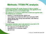methods titan pk analysis