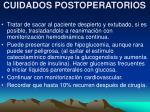 cuidados postoperatorios47