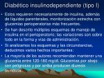 diab tico insulinodependiente tipo i