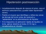 hipotensi n postresecci n