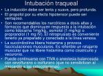 intubaci n traqueal