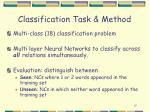 classification task method
