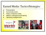 earned media tactics strategies