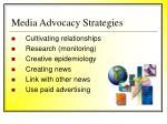 media advocacy strategies