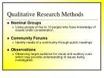 qualitative research methods41