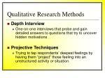 qualitative research methods42