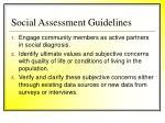 social assessment guidelines