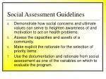 social assessment guidelines36