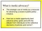 what is media advocacy