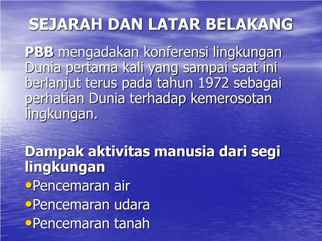 sejarah dan latar belakang l.
