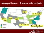 managed lanes 12 states 40 projects