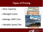 types of pricing