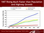 vmt rising much faster than population and highway growth