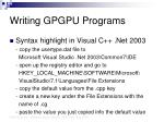 writing gpgpu programs30