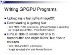 writing gpgpu programs36
