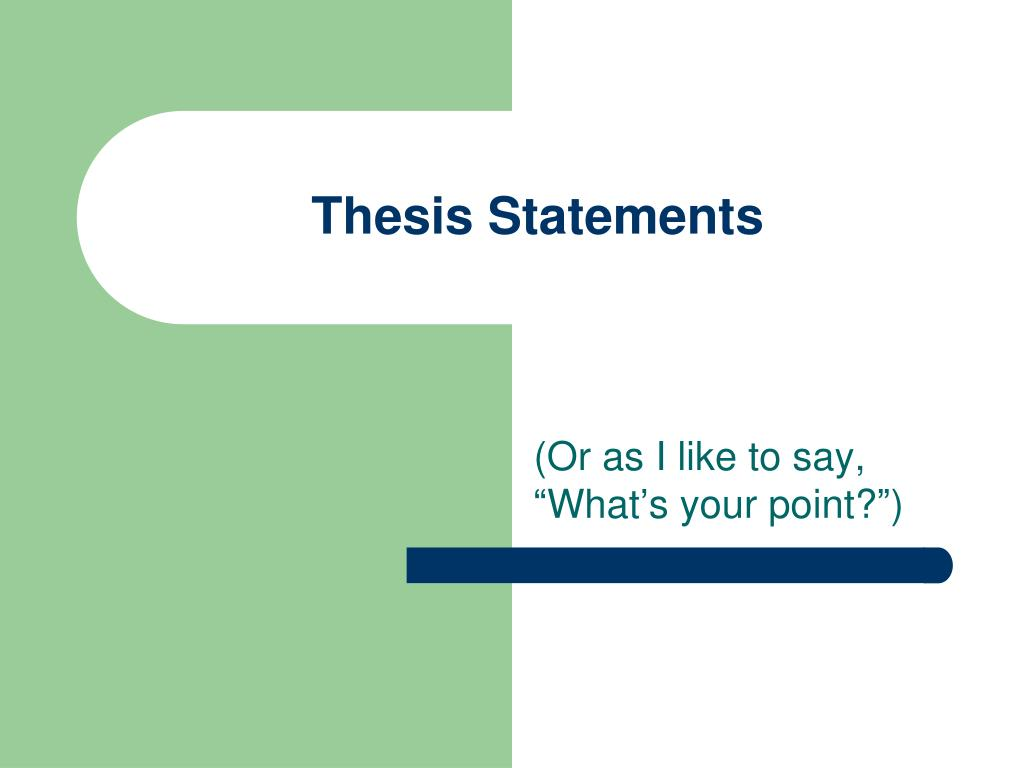 thesis statements l.