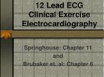 12 lead ecg clinical exercise electrocardiography