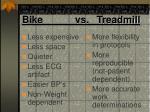 bike vs treadmill