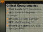 critical measurements