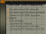 exercise test endpoints