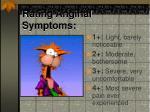 rating anginal symptoms