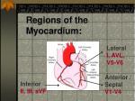 regions of the myocardium