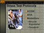 stress test protocols
