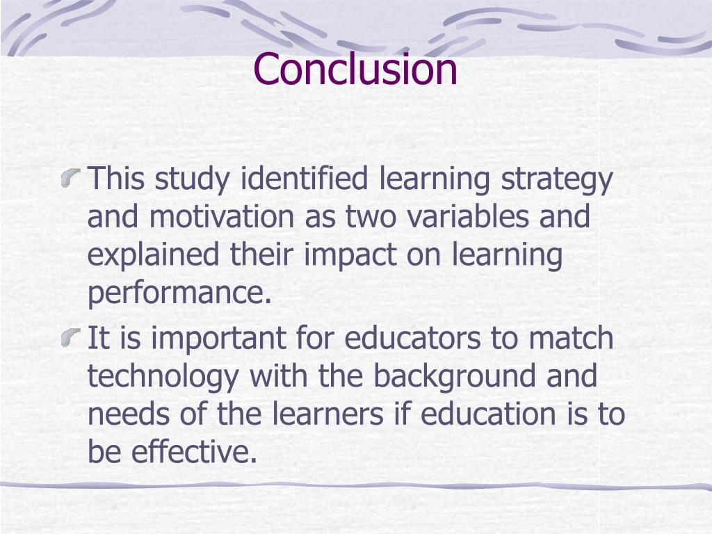 PPT - Impact of Learning Strategies and Motivation on