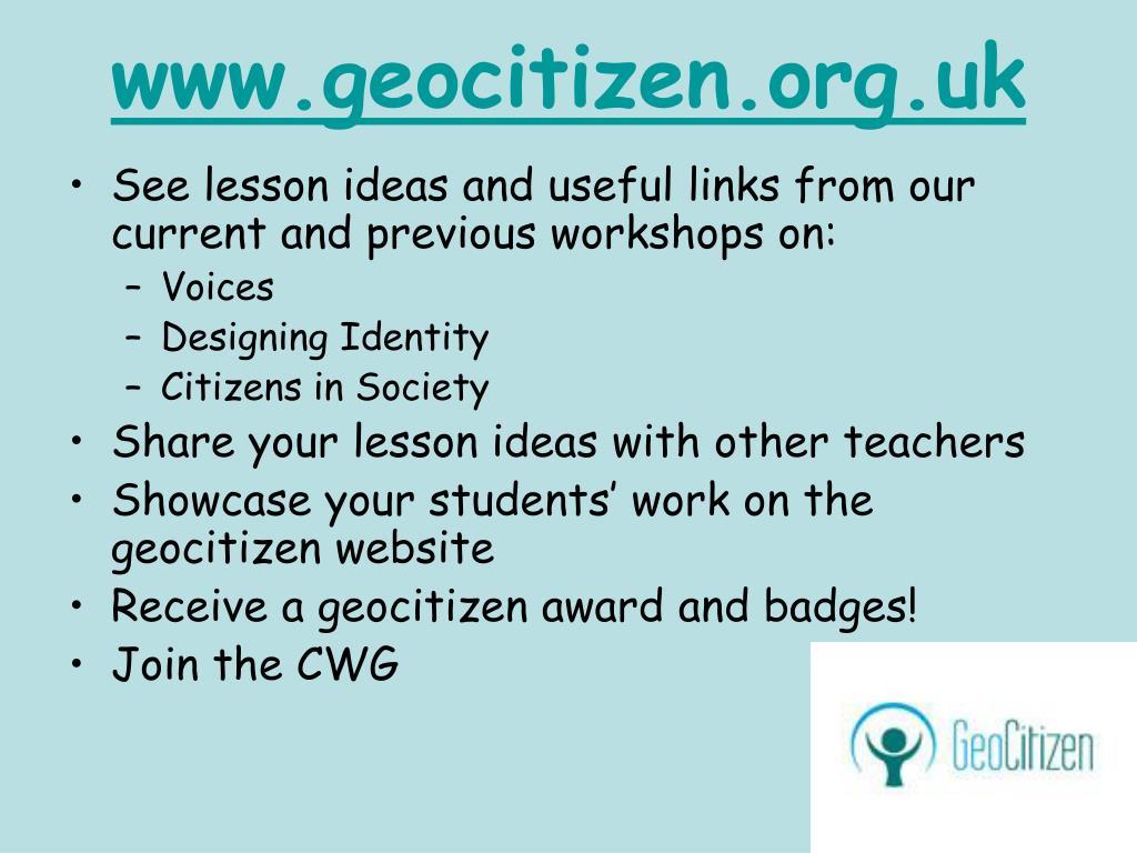 www.geocitizen.org.uk