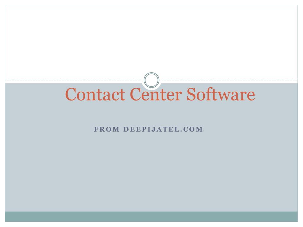 contact center software l.