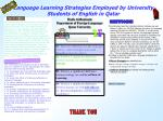 language learning strategies employed by university students of english in qatar