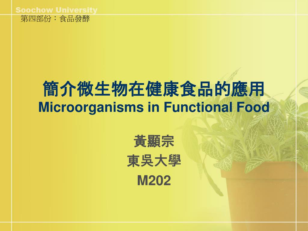 microorganisms in functional food l.