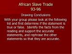 african slave trade 93 96