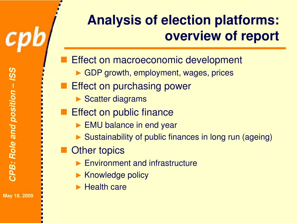 Analysis of election platforms: overview of report