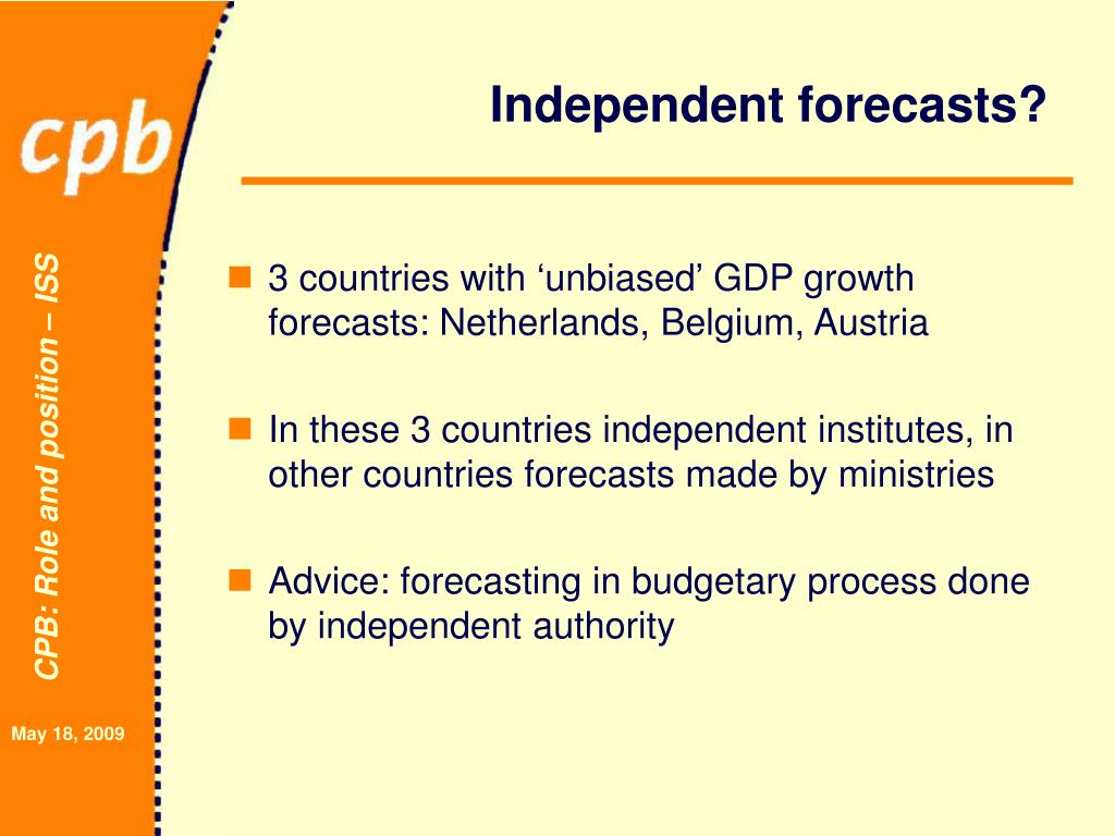 Independent forecasts?