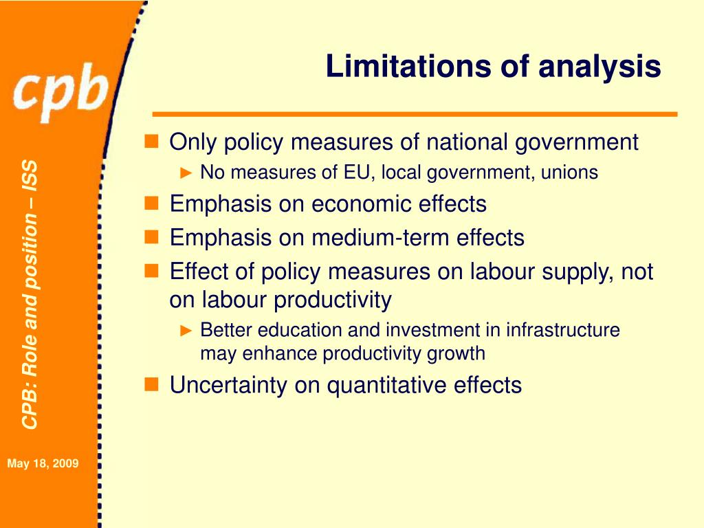 Limitations of analysis