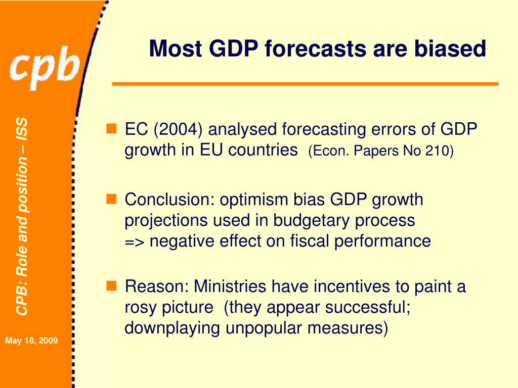 Most GDP forecasts are biased