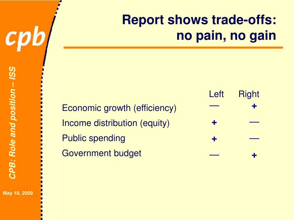 Report shows trade-offs: