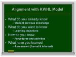 alignment with kwhl model