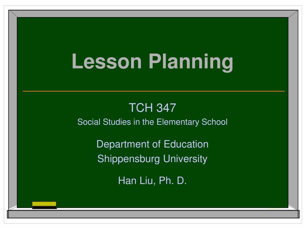 lesson planning l.