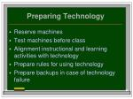 preparing technology