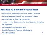 advanced applications best practices