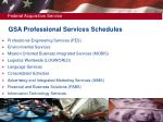 gsa professional services schedules