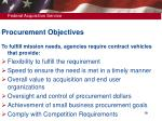 procurement objectives